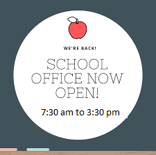 School Offices are Open