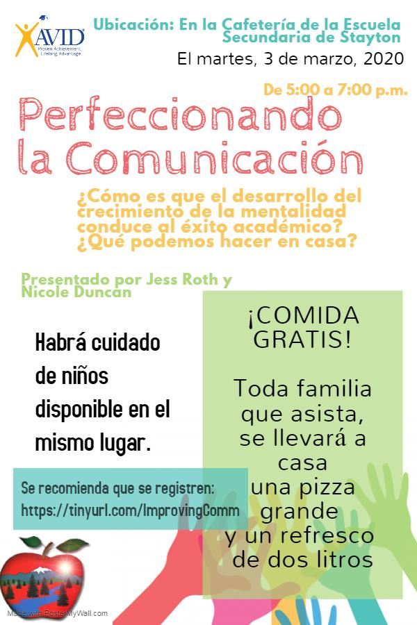 WORKSHOP FLIER SPANISH