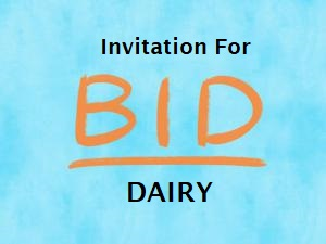 Invitation For Bid - DAIRY