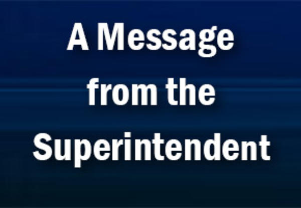 Message from Supt Gardner-Sept 15
