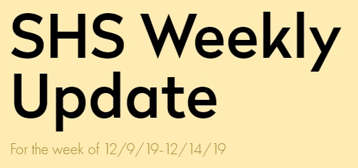 SHS Weekly Update